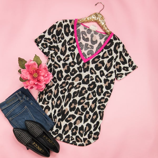 Pink Lady Leopard Top
