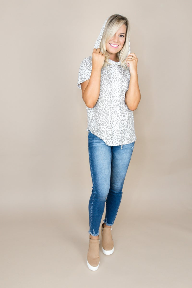 Taupe Leopard Top