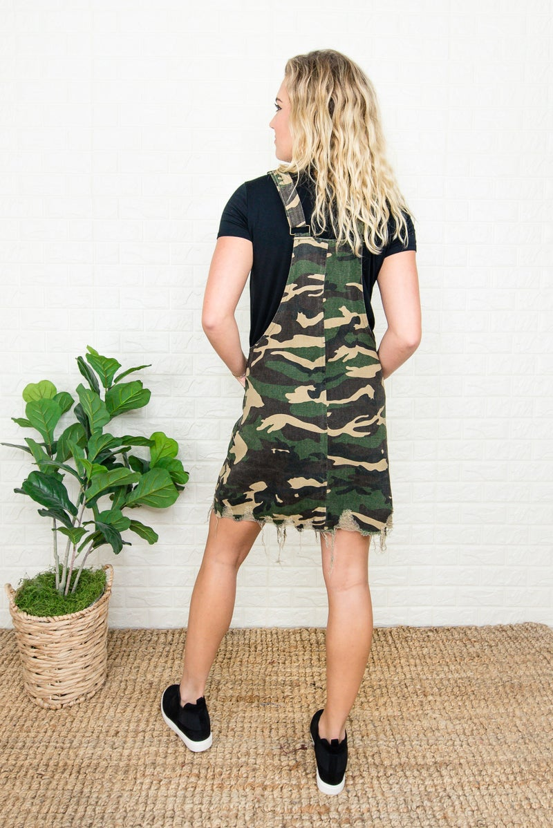 Camo Overall Dress *all sales final*