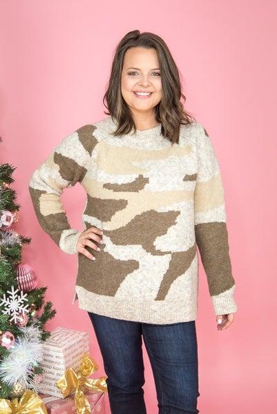 Mocha Camo Sweater