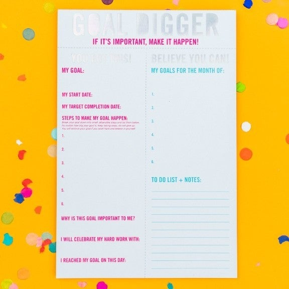 Goal Digger Notepad By Taylor Elliot Designs