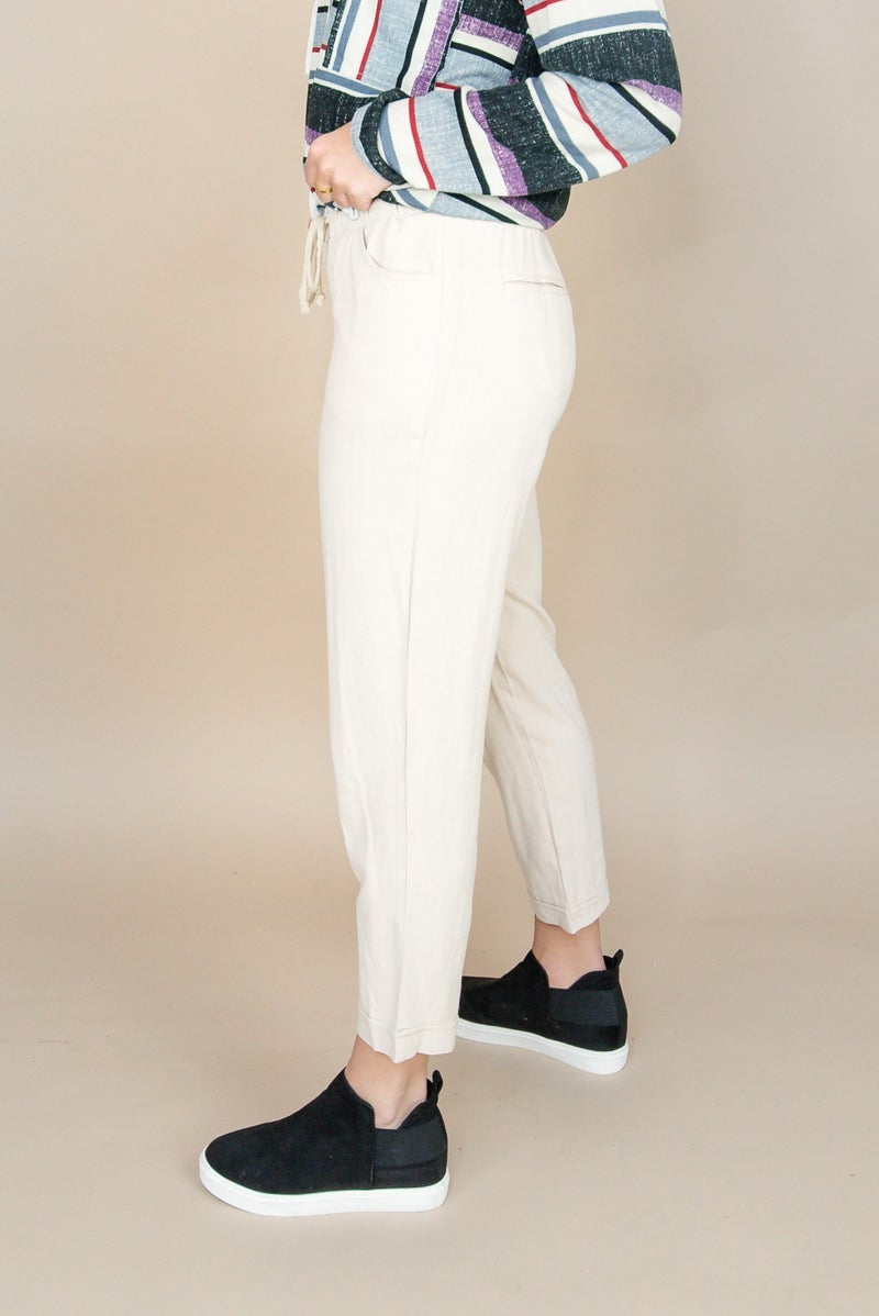 Linen Khaki Capri's *all sales final*