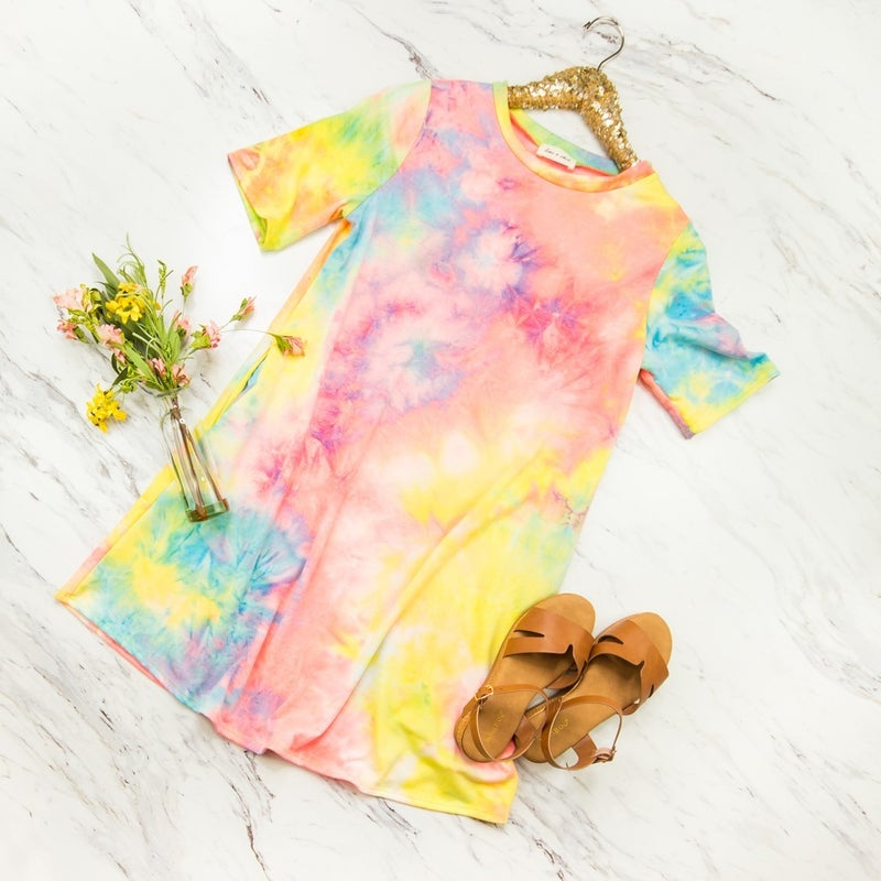 Brightest Tie Dye Dress *all sales final*