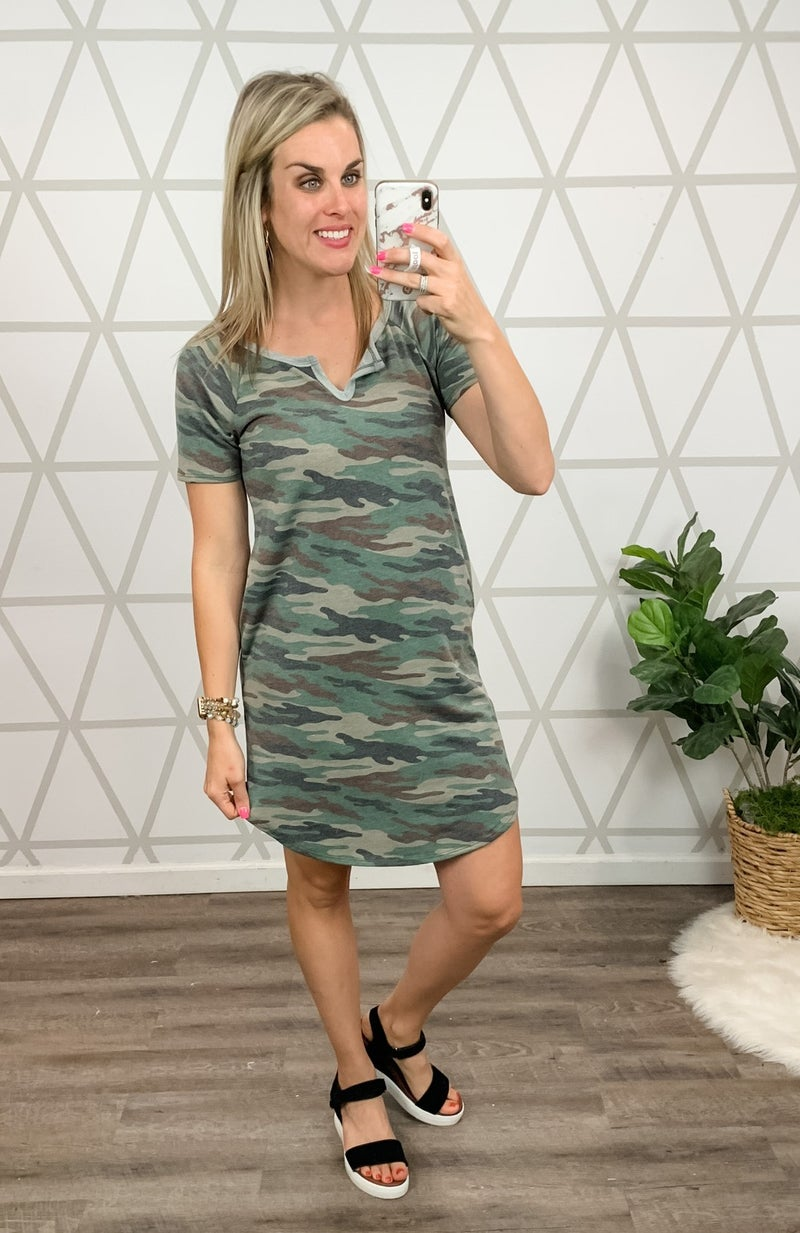 Camo Obsessed Dress *all sales final*