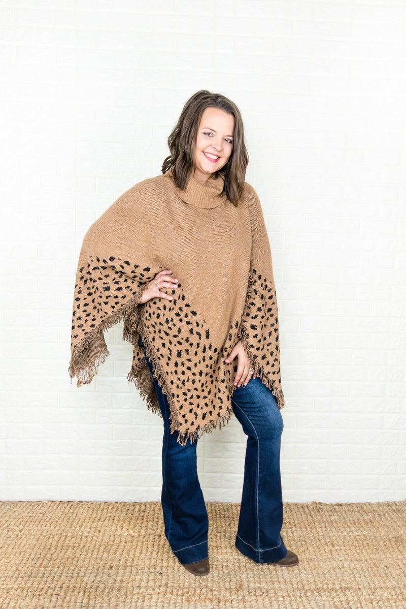 Spotty Dot Blanket Poncho