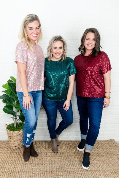 Holiday Sequin Blouse