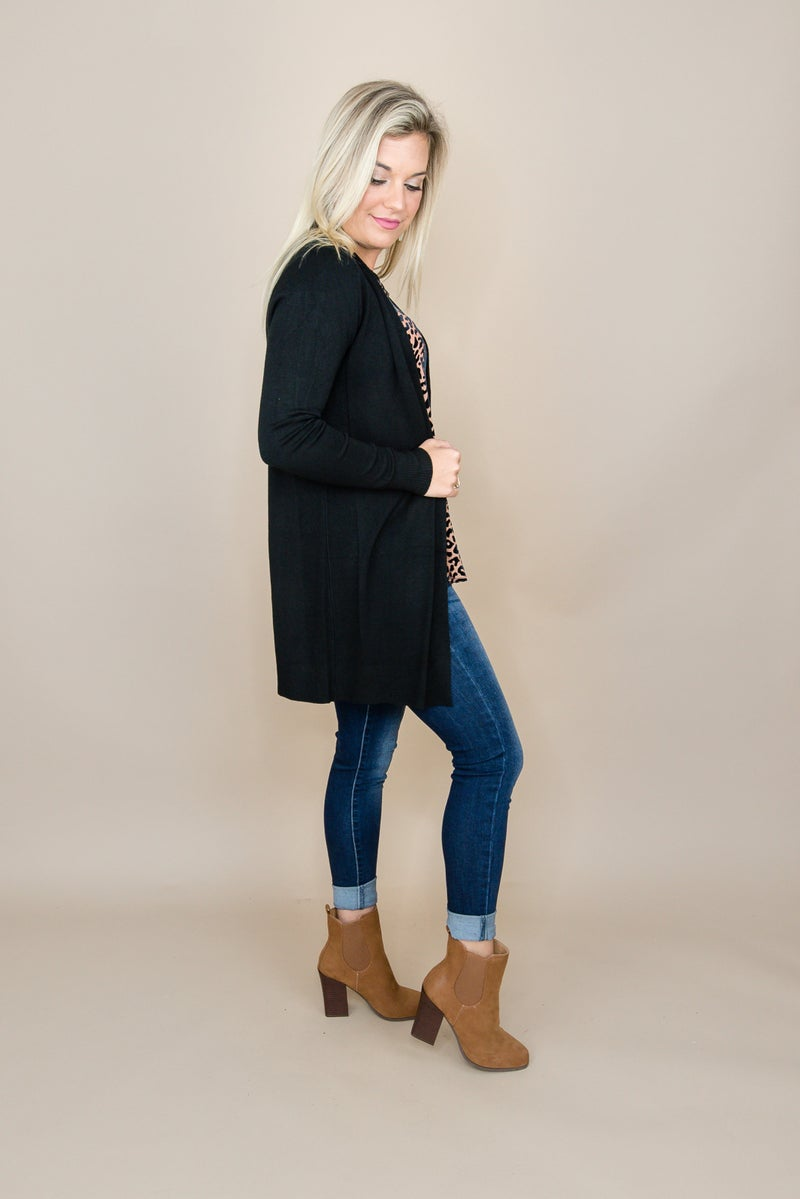 Basic Black Cardigan