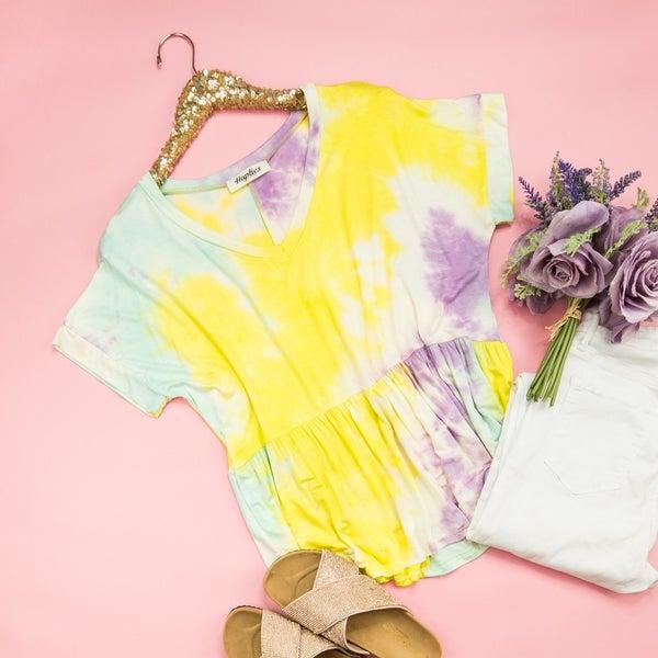 Summer Bright Tie Dye Top *all sales final*