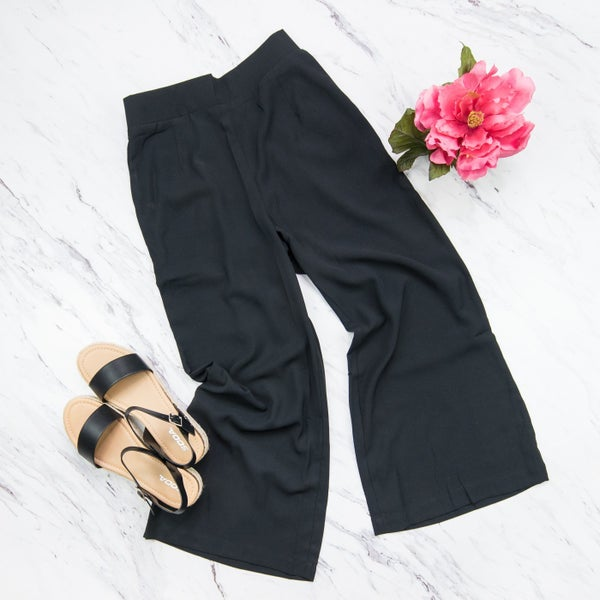 Black Flare Work Pants *all sales final*