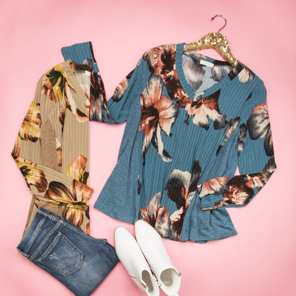 Winter Floral Top *ALL SALES FINAL