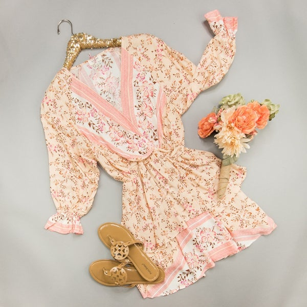 Peach Tea Party Dress