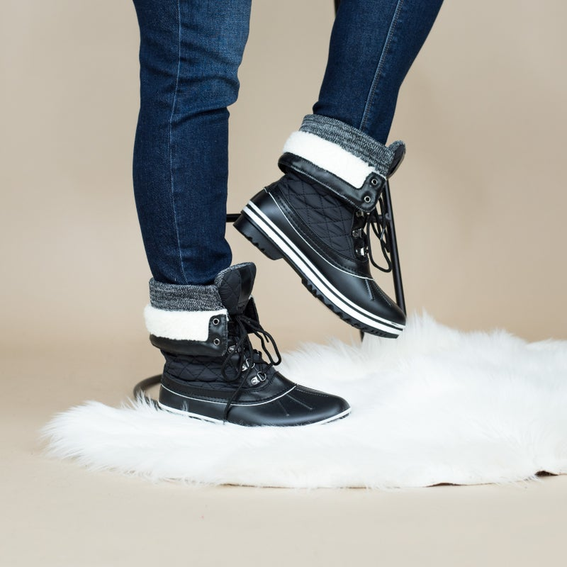 Solid Neutral Snow Boots