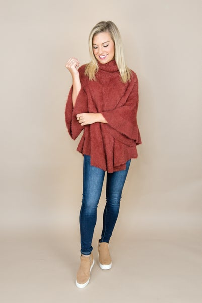 Brick Poncho Top