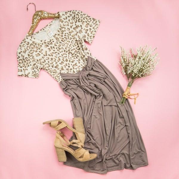 Flaunt Favorite Mocha Leopard Dress