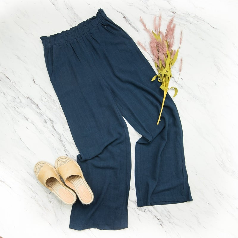 Smooth Navy Pants