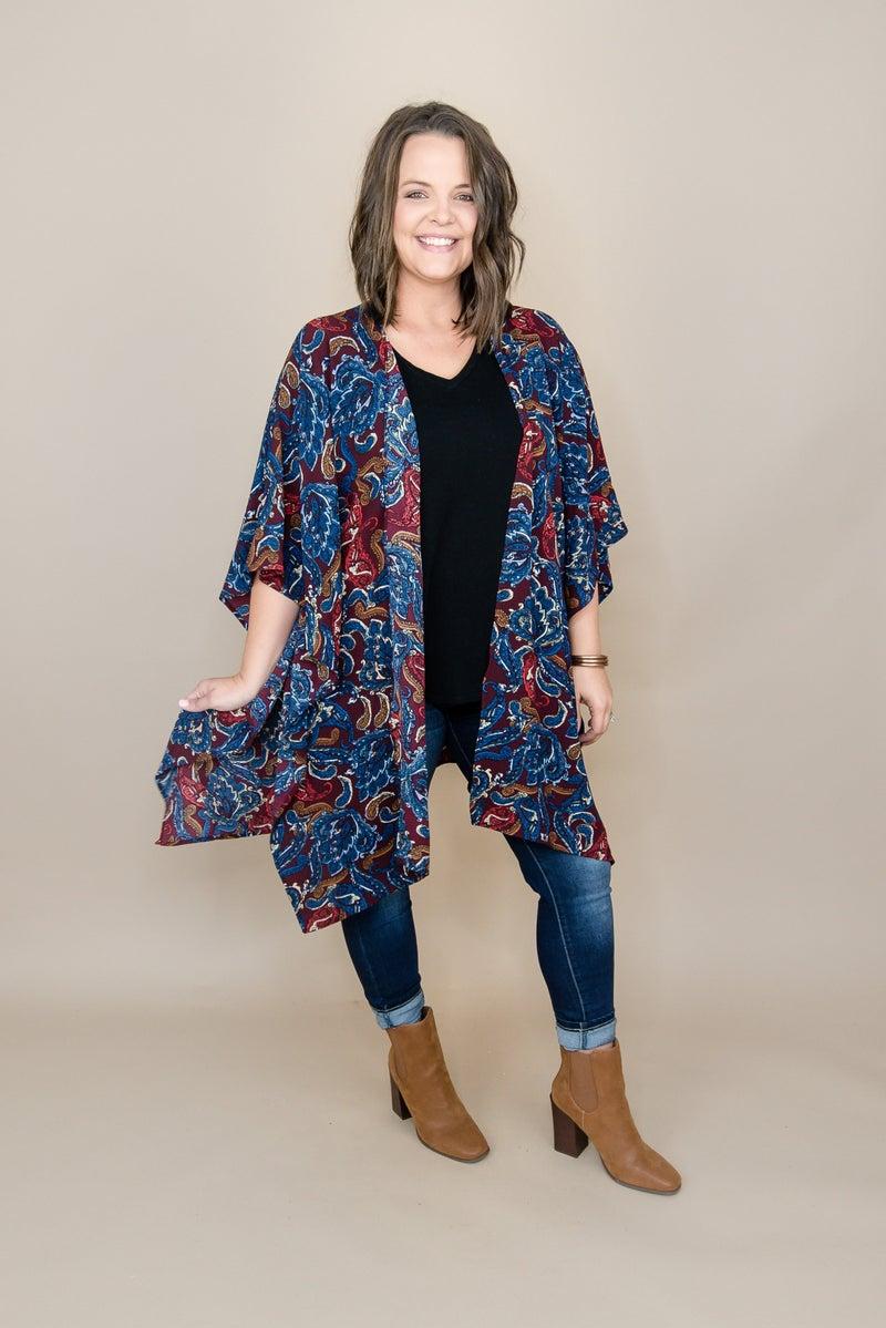 Paisley Print Kimono *all sales final*