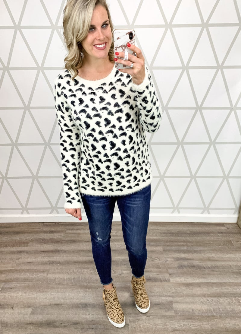 Animal Print Sweater *ALL SALES FINAL*