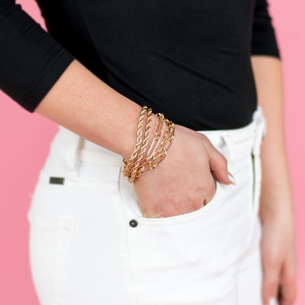 Chain Layered Magnetic Bracelet