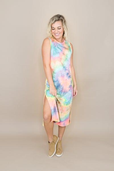 Brightest Dye Midi Dress *all sales final*