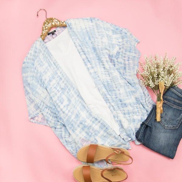 Shades of Blue Kimono