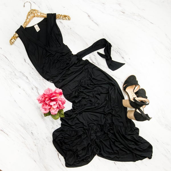 Slimming Black Maxi