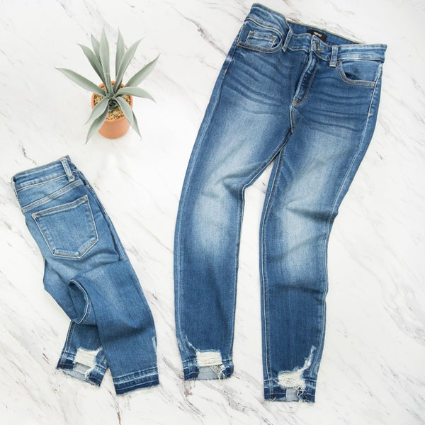 Hem Distressed Denim