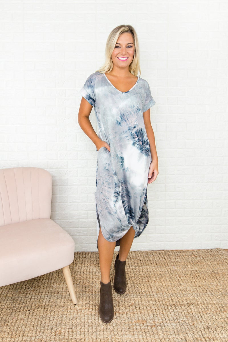 Muted Tie Dye Maxi