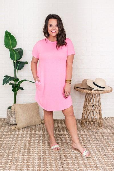 Little Pink Boyfriend Fit Dress