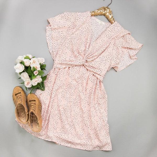 Blush Twist Dress  *all sales final*