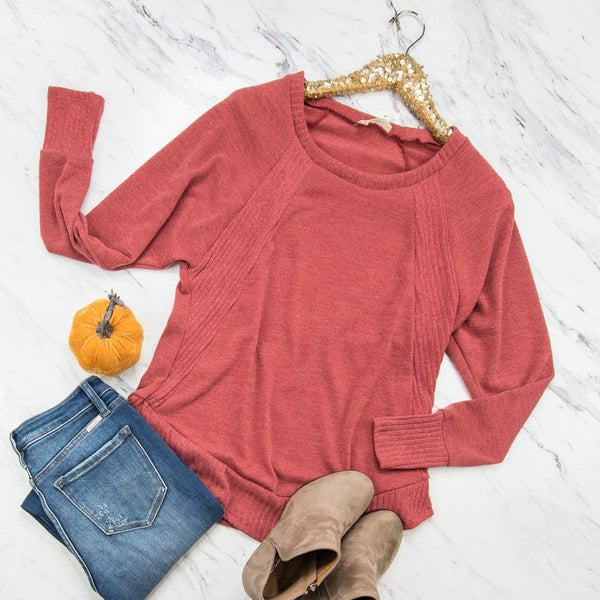 Brick Sweater Top