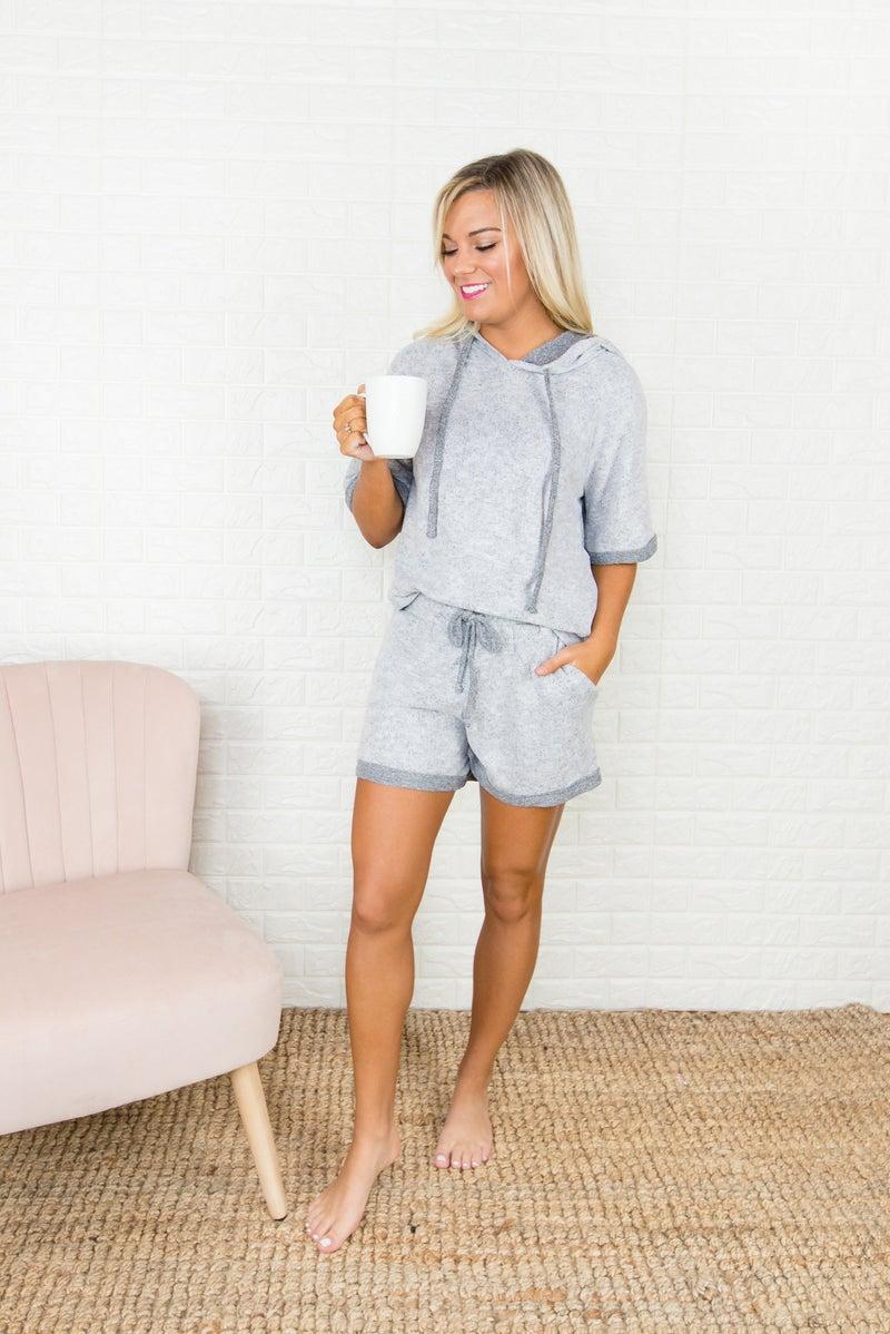 Cherish Gray Lounge Shorts