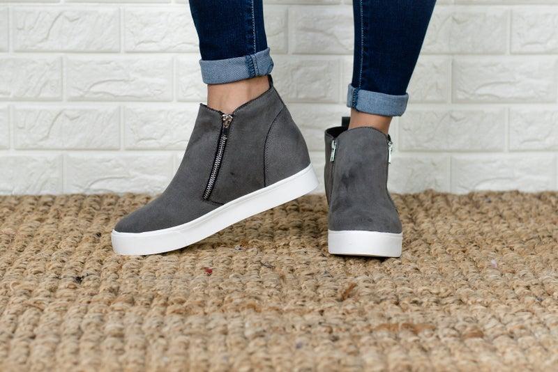 Updated Zipper Wedge Sneaker
