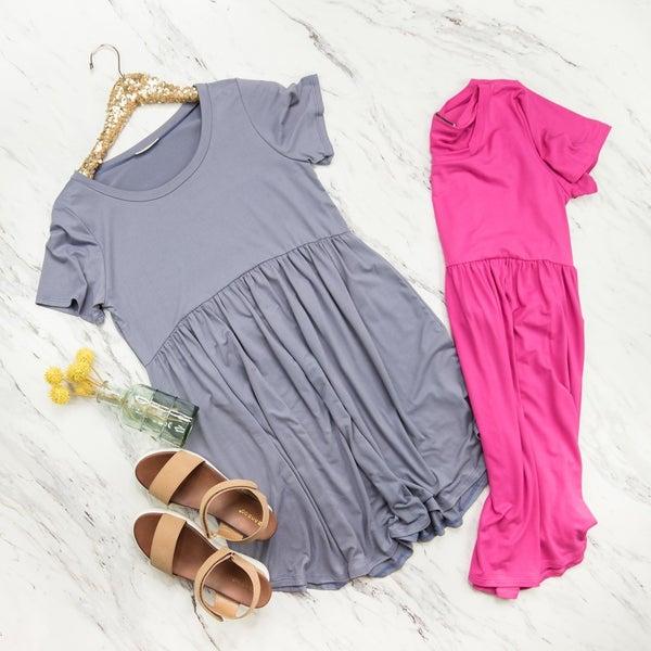 Flaunt Peplum Dress *all sales final*