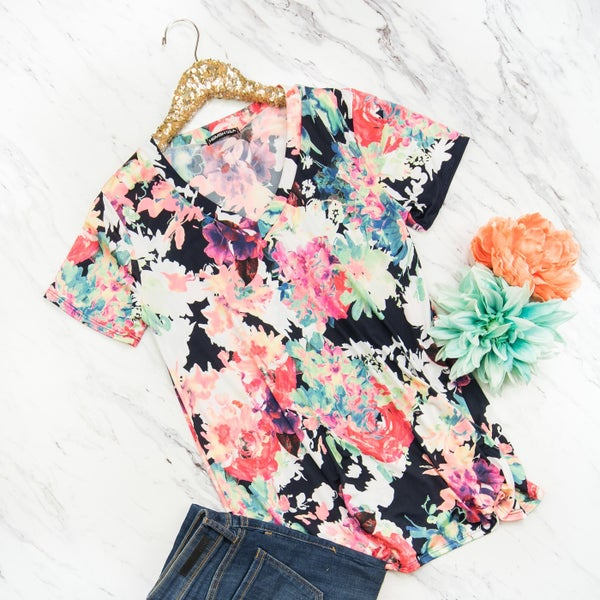 Flawlessly Floral Blouse