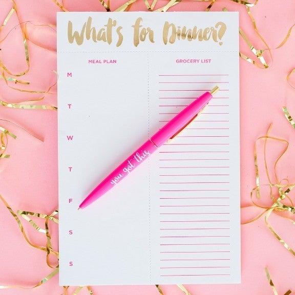 Meal Planner List by Taylor Elliot Designs