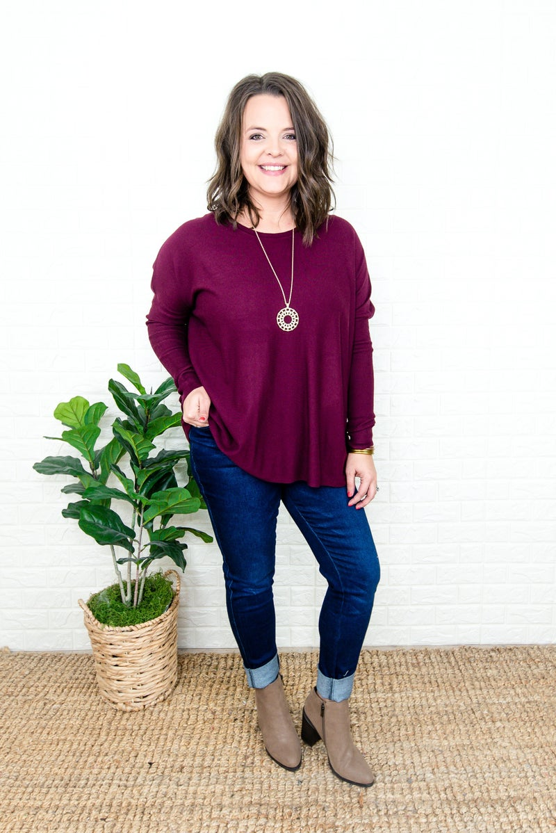 Oversized Mulberry Top