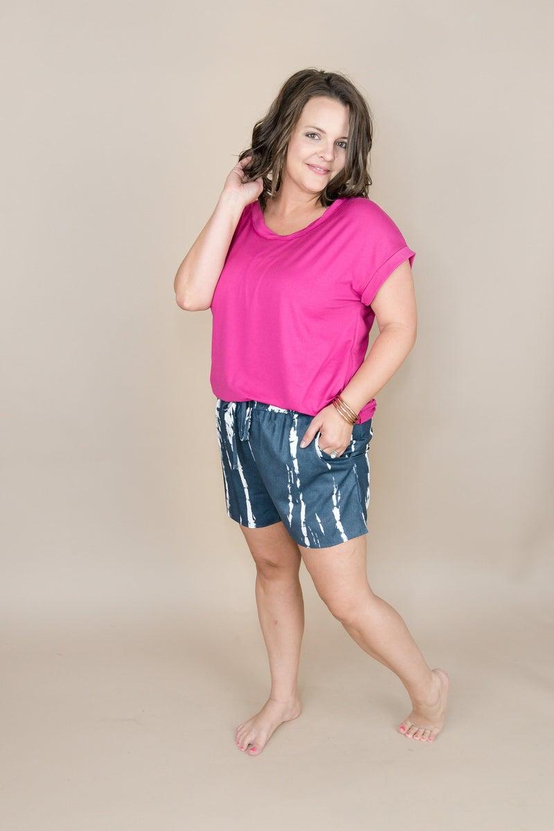 Gray Fall Dye Shorts