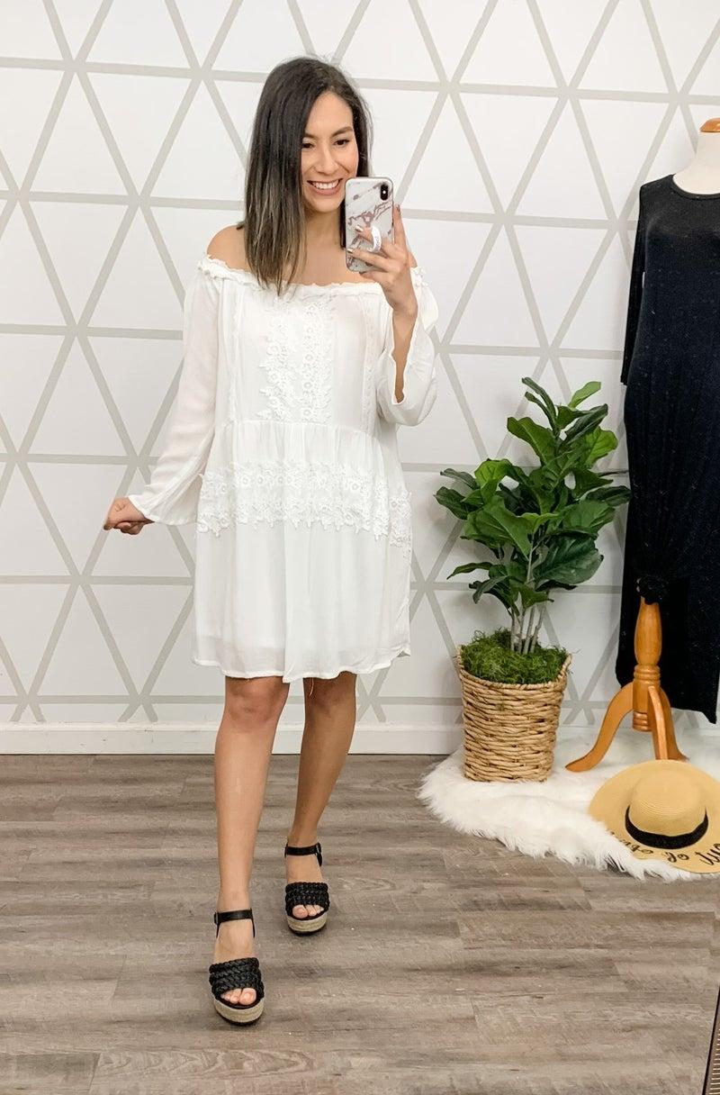 Boho Ivory Dress *ALL SALES FINAL