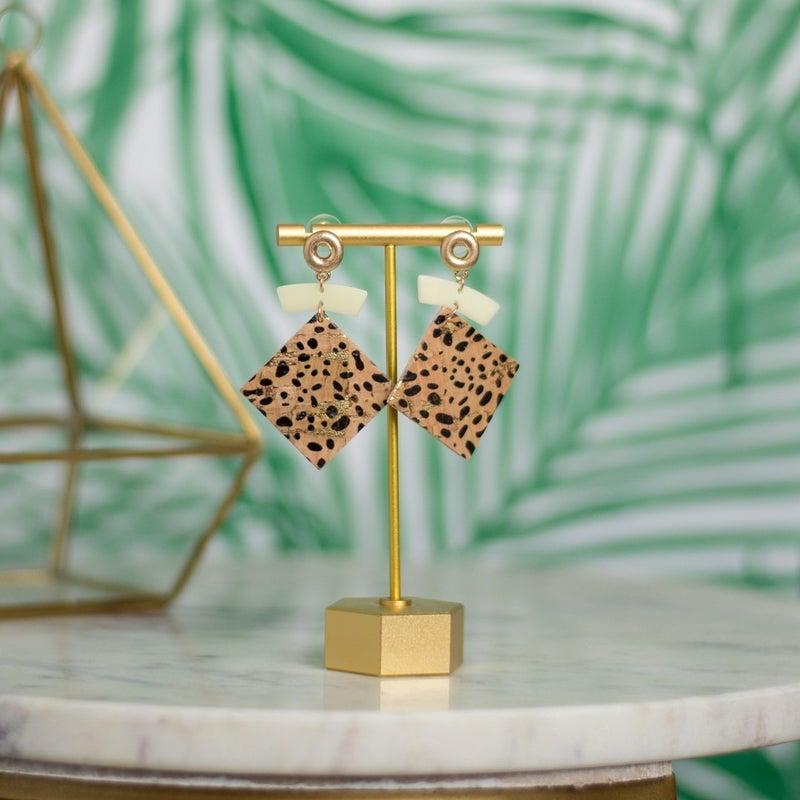 Spotty Dot Square Earrings