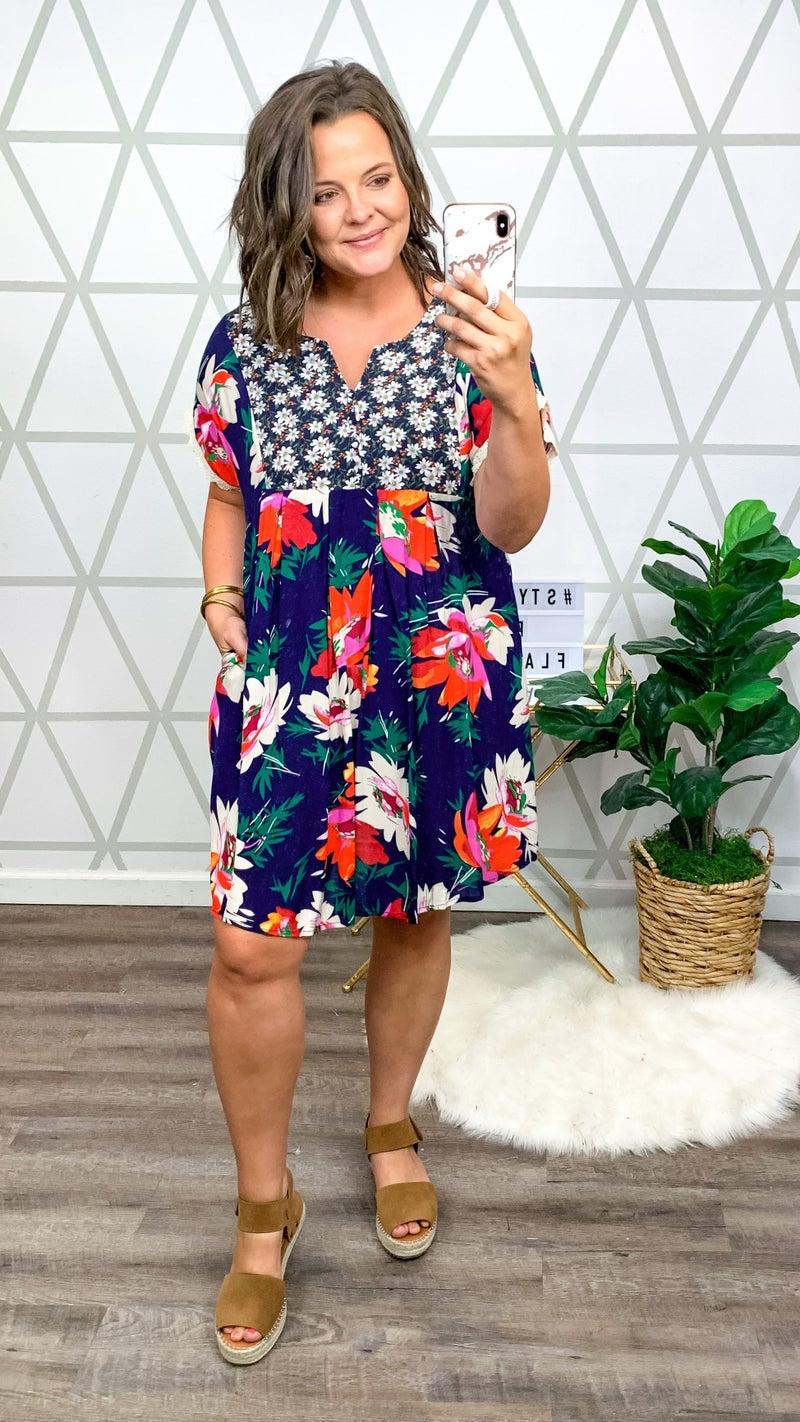 Sassy & Bright Floral Dress