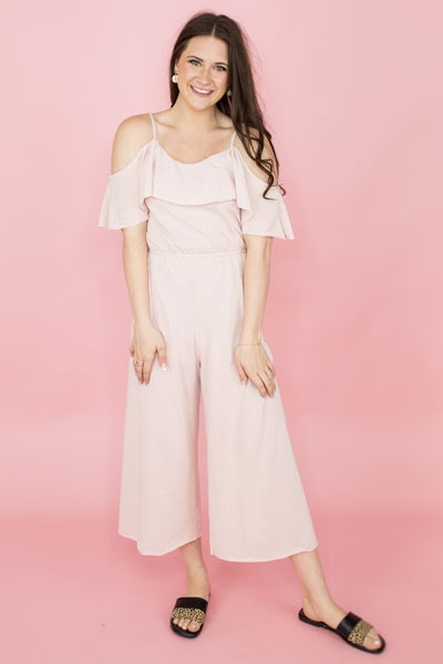 Textured Basic Jumpsuit