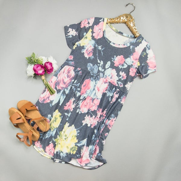 Pop Of Floral Dress