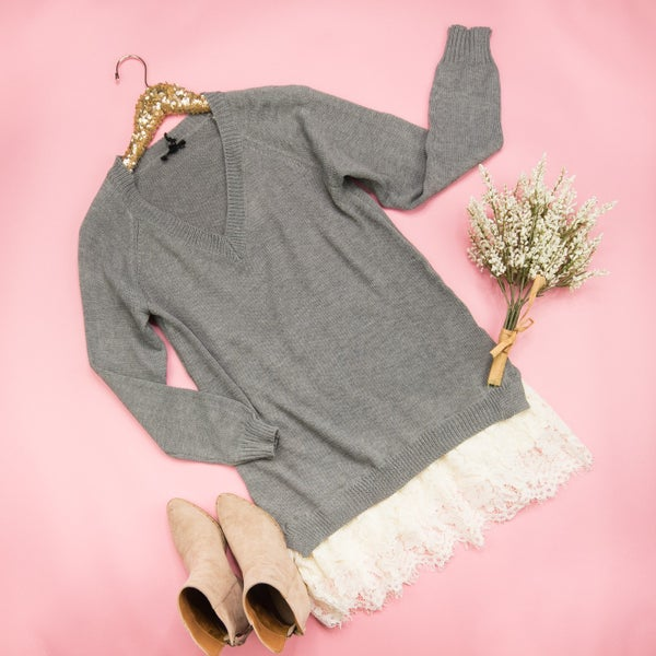 Lace It Up Sweater *ALL SALES FINAL*