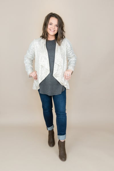 Sequin Waterfall Cardigan *all sales final*