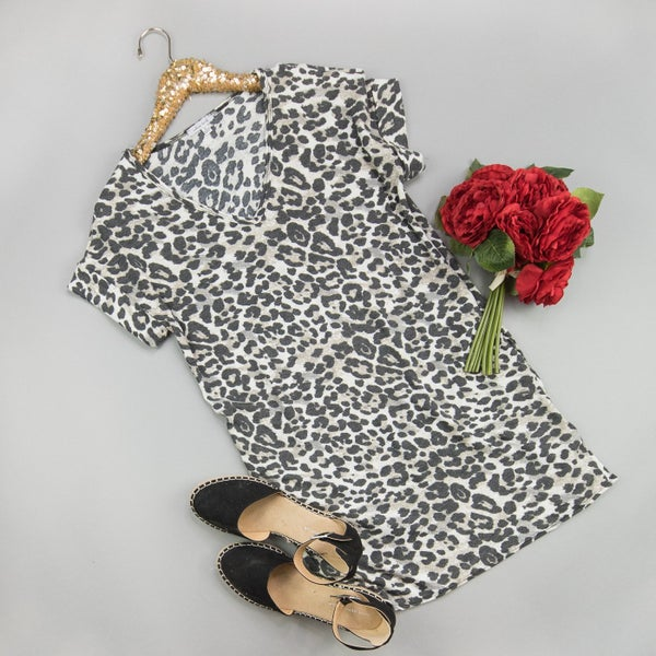 Crazy For Leopard Dress *all sales final*