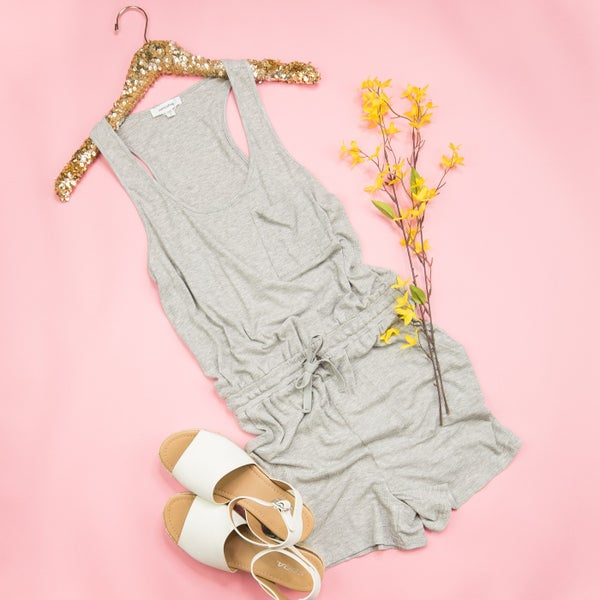 Heather Grey Romper *all sales final*