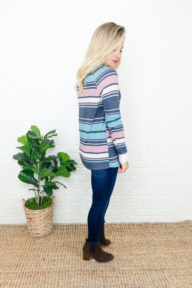 Boyfriend Stripes Tee(repost)