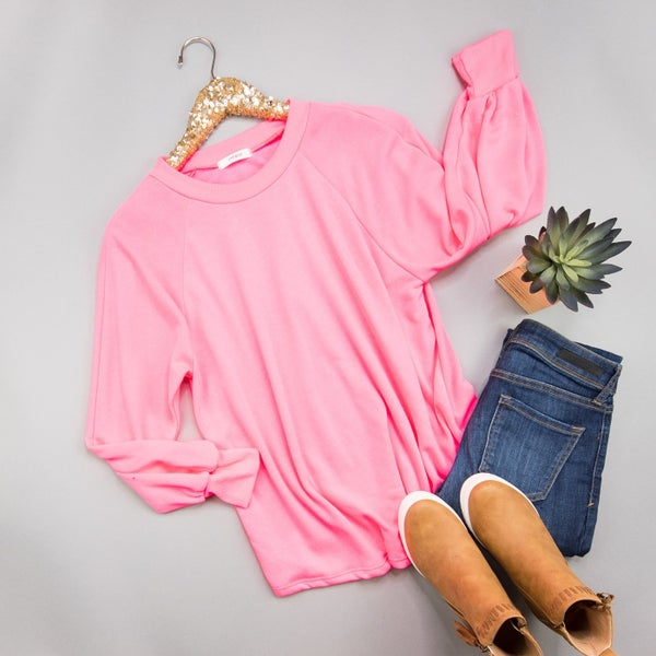 Neon Pink Lightweight Sweater