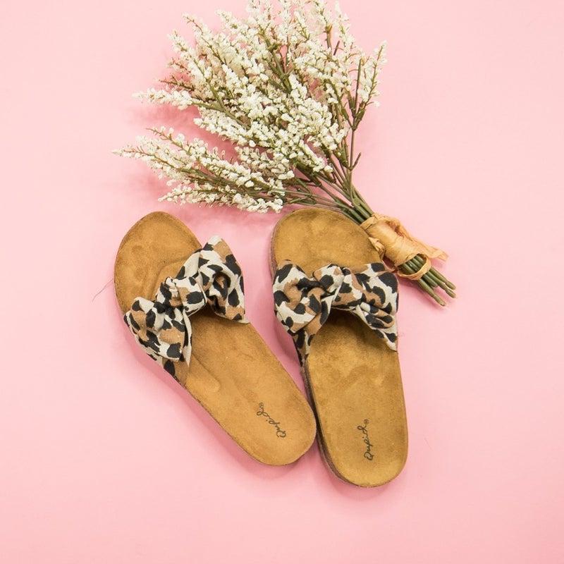 Bow Cork Sandals