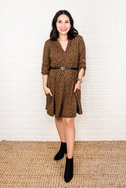 Timeless Leopard Dress *all sales final*